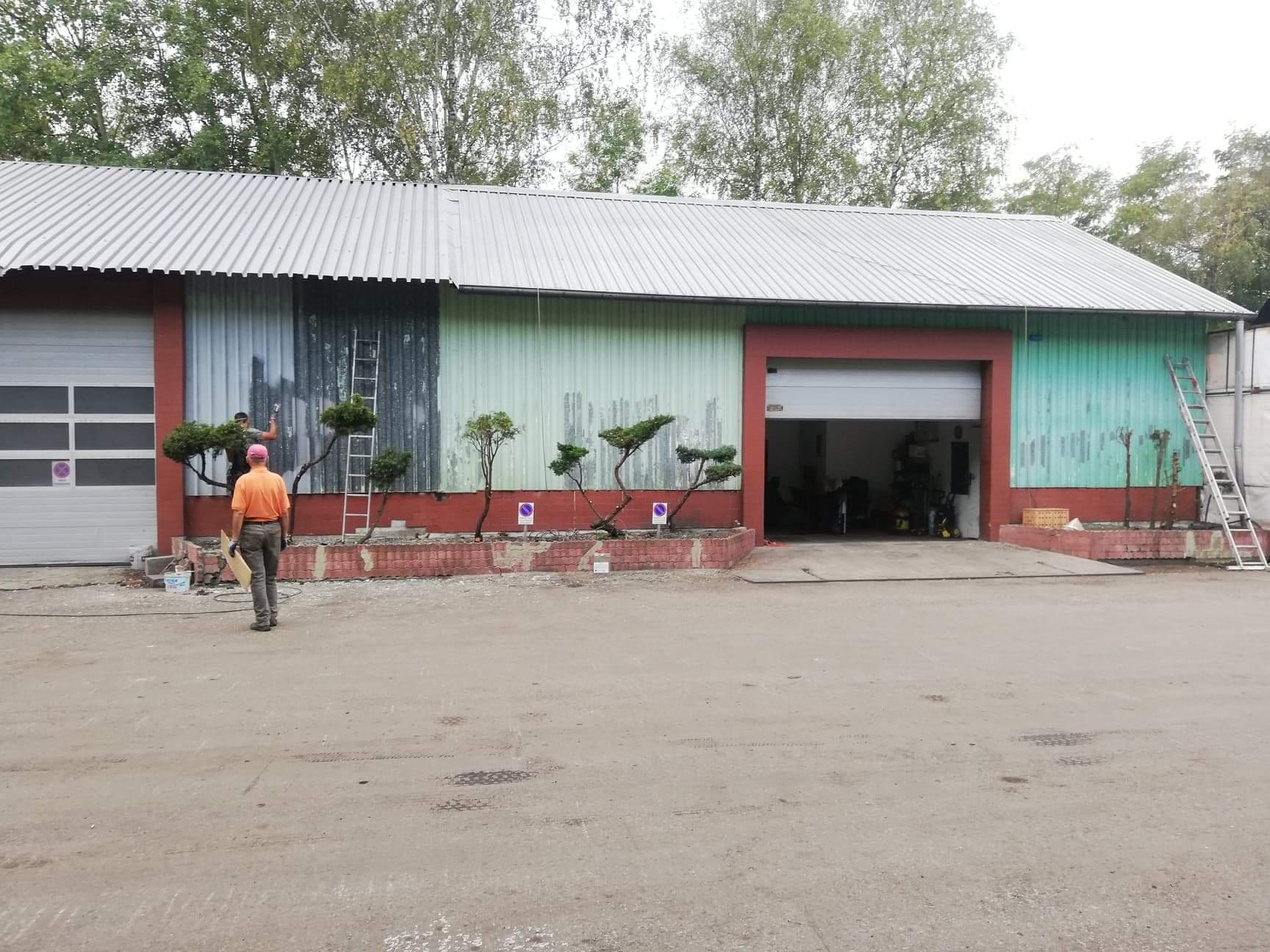 Malowanie hali przemysłowej
